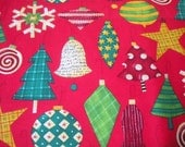 Let it Snow Ornament Fabric -- One and One-half yards