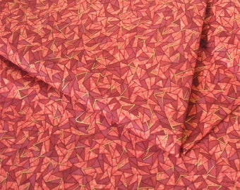 Prisms Brick Red Geometric Fabric-- ONE YARD