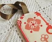 Luggage Tag Secret Garden Lock and Key Coral - Bridesmaids Gift - Wedding Favor