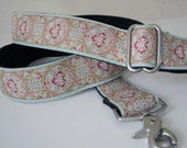 Robins Egg Floral Trim Strap for handbag
