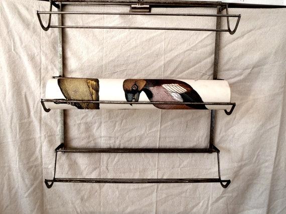 Antique Industrial 1920s Metal Three Arm Rack Wall Shelf