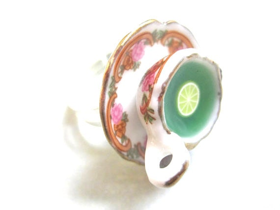 Dazzling Tea Cup Ring