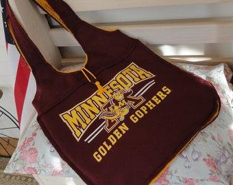 University of Minnesota Golden Gophers Ragged Tote Bag