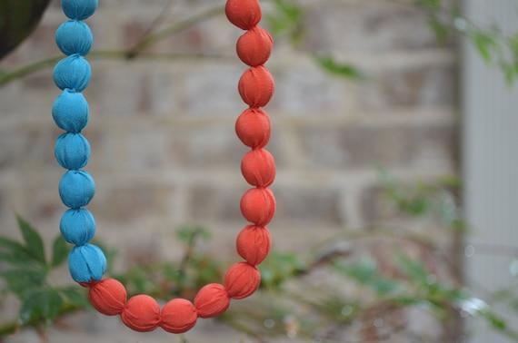 Color-block Silk Necklace