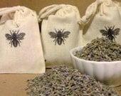 Lavender Mini Sachets    Garden Fresh Dried Organic Lavender  (Set Of Three Mini Sachets)