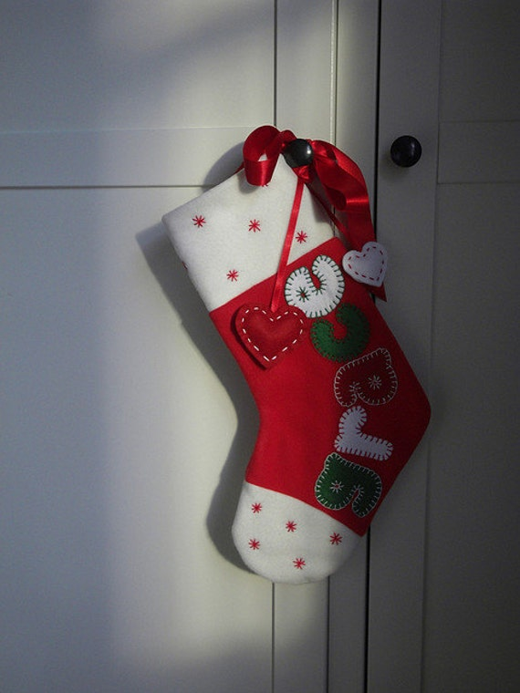 Personalised / Personalized Christmas Stockings - RED