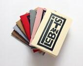 Graphic Istanbul - Beige - Pocket size - Linoleum Block Printed - Handbound notebook