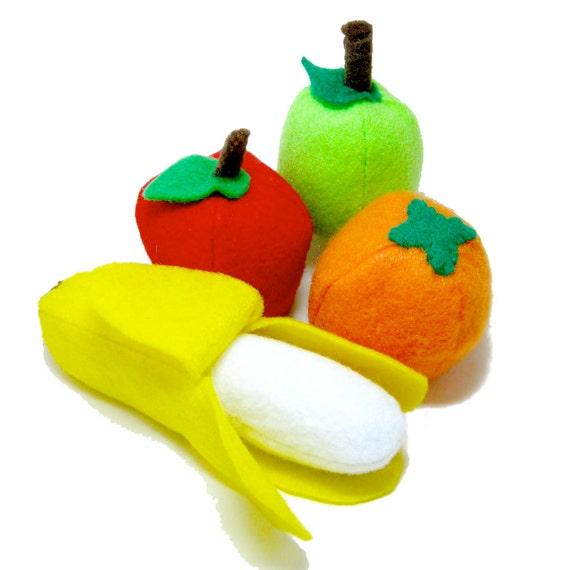 Felt Play Food Pattern Fruit