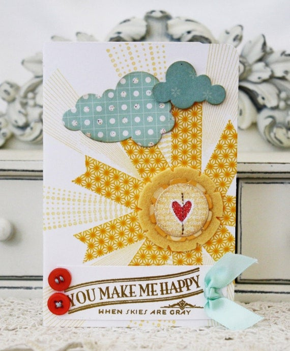 You Make Me Happy Handmade Card