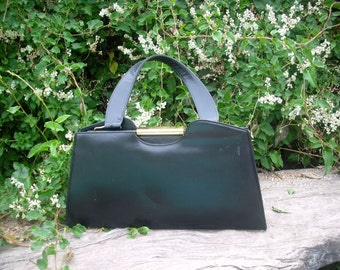 Quality Vintage Black Leather DOFAN Handbag