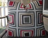 Pillow Covers One Pair 18 x 18 Handmade Squares Pattern Geometric Pillows Urban Pillows Home Decor Throw Pillows Cushion Covers