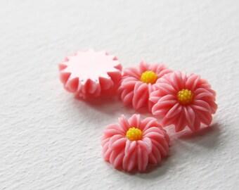 8pcs Acrylic Flower Cabochons-Pink 20mm (25F2)