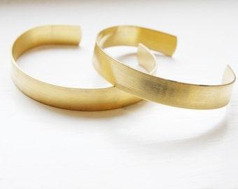 1 pc of Brass Cuff Bracelets Flat Band 0.44 Inch Wide (350C-I-188)