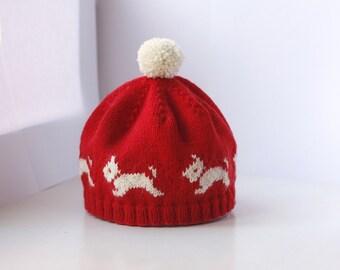 Westie Hat - PDF Knitting Pattern