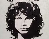 "Vintage ""JIM MORRISON DOORS"" iron on t-shirt transfer"