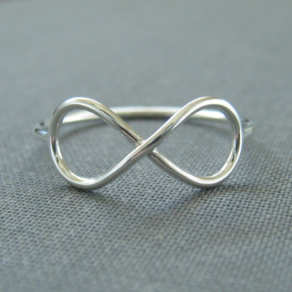 Sterling Silver Ring - Infinite - Infinity Ring - Argentium Sterling Silver - Simple Modern Minimal Ring