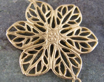 Flower Filigree Connector Link Jewelry Finding 1426 - 6 Pieces