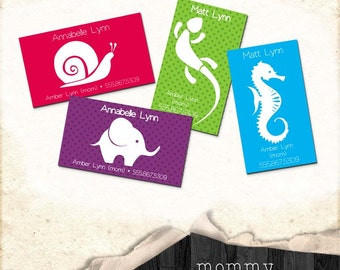 Mommy Cards, customizable