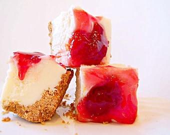 Julie's Fudge - Cherry CHEESECAKE With Graham Cracker Crust - Over Half Pound
