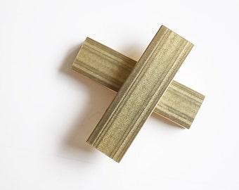 4 piece of newly made thick brass tube flat rectangular shape box cube 3x10x35 mm