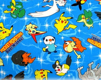 Pokemon licensed  fabric fat quarter ©nintendo ©pokemon