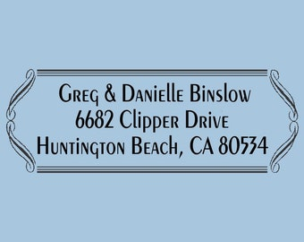 Greg and Danielle Custom Self Inking Stamp Design 200-017