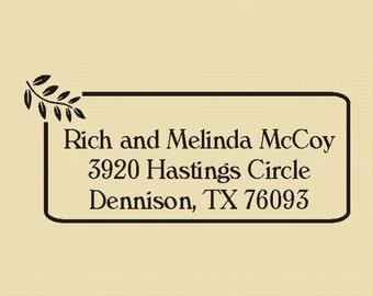 Custom Rubber Stamp Return Address McCoy Design R007