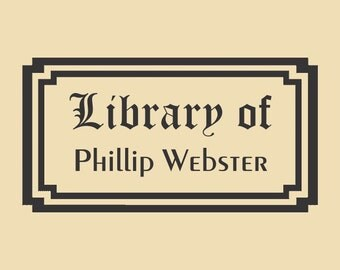 Library of Phillip Webster Unique Custom Rubber Stamp R044