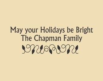 May Your Holidays Be Bright Custom Rubber Stamp Design Hol-003