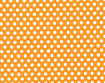 One (1) Yard- Kiss Dot Fabric by Michael Miller Fabrics CX5518-Orange