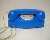 Vintage Blue Toy Princess Telephone