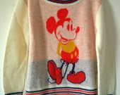 Vintage Mickey Mouse Children's Sweater