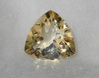 Citrine trillion faceted gemstone, 16x16mm, 10.99 carat, bright flashy gem               018-06-001