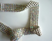 DIVA Rhinestone Banding Trim  /  AB Iridescent Crystal  / 4 rows, 1 yard / DAB436