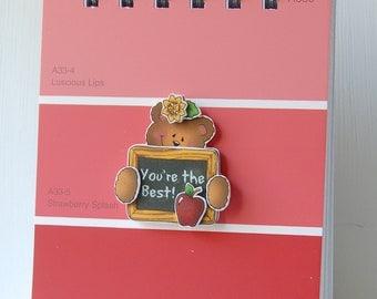 SALE Teacher Appreciation Paintchip Spiral Bound Notebook