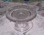 Glass Cupcake Plate Dessert Pedestal Stand Candle Holder