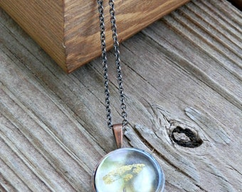 Photo Pendant Necklace - Yellow Spring
