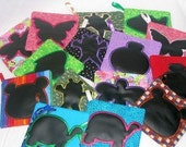 MINI CHALKBOARD MATS Set Of 10 Various Shapes Great Party Favors