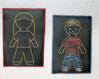 Boy and girl chalkboards-learn while you play #3878