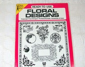 Vintage Craft Book, Ready To Use Floral Designs