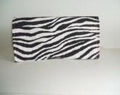 Waterproof Coupon or Purse Organizer Zebra Fabric