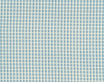 Soft Blue and White Small checked by Senise Schmidt Cotton fabric by FreeSpirit-1 yard