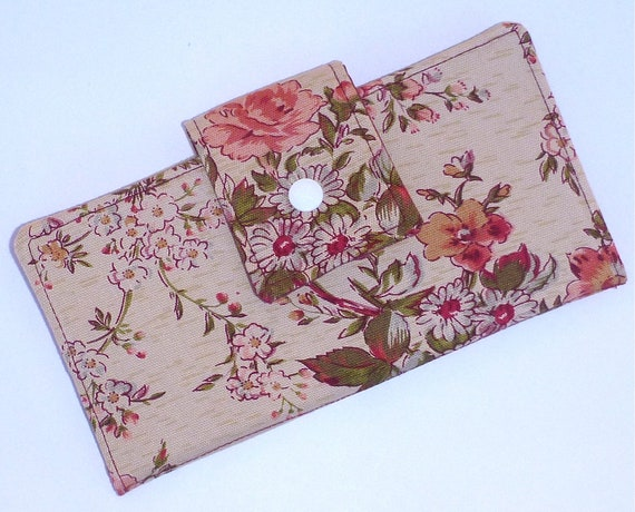 SALE Wallet Purse Bifold Long Clutch iphone Pouch The Rose By BonTons on Etsy