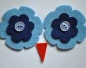 Ollie Owl Hat - Eyes and Beak Kit - Light Blue and Navy