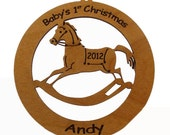 Baby's First Christmas Rocking Chair Ornament Personalized