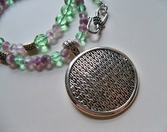 CELTIC PENDANT/CELTIC Beaded Necklace/St. Patrick's Gift/Irish Pendant/Celtic Jewelry/Silver Pendants