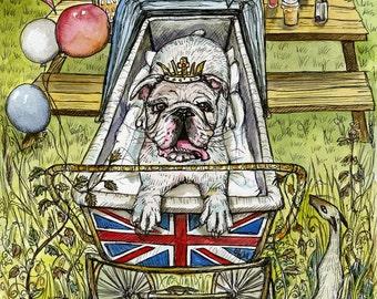 British Bulldog Dog Art Print