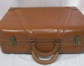 Vintage Leather Suitcase Cowhide