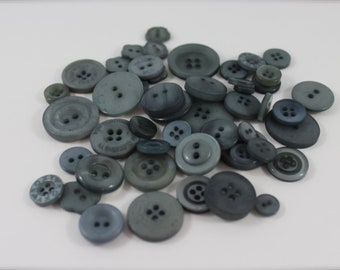 50 Grey Buttons-Buy 3, Get 1 FREE