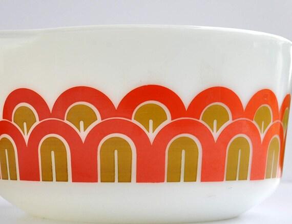 Vintage-Hostess-2- Bowls-Pyrex-1970-Hippie-Orange